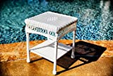 Cheap Tortuga Outdoor Portside Side Table, White Coastal