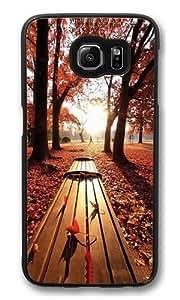 Autumn leaves Custom Samsung Galaxy S6/Samsung S6 Case Cover Polycarbonate Black