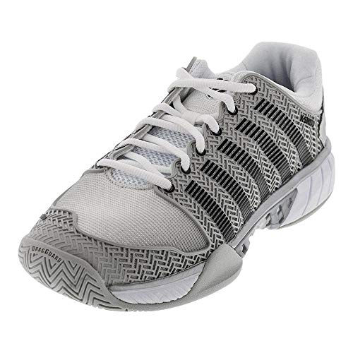 K-Swiss Men's Hypercourt Express Tennis Shoe-12 D(M) US-Glacier Gray/White/Silver