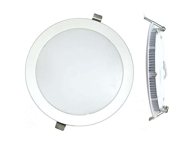 Silver Electronics LED Plano 6000K 18 W, Plateado 22.5 x 22.5 x 1.2 cm