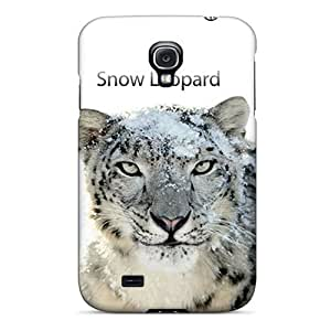 Waterdrop Snap-on Snow Leopard Case For Galaxy S4