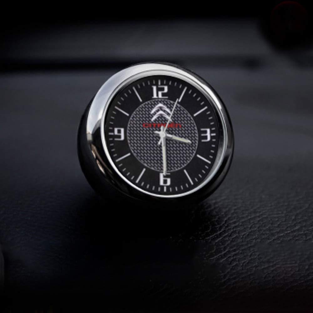 KINBEAR Voiture Tableau De Bord Garniture Horloge Accessoires Intérieur Haute Précision Quartz ...