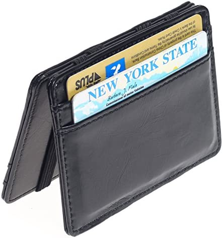 CKLT Men/'s Fashion Magic Money Clip Leather Minimalistic Slim Wallet