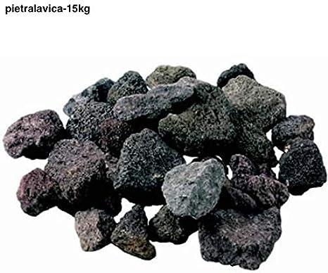 LordsWorld - Pietra Lavica - 15Kg Pietra Lavica para la Barbacoa, Sauna y decoración del Acuario - Roca de la Lava para la Barbacoa y el Gas Estufas - Pietralavica-15kg