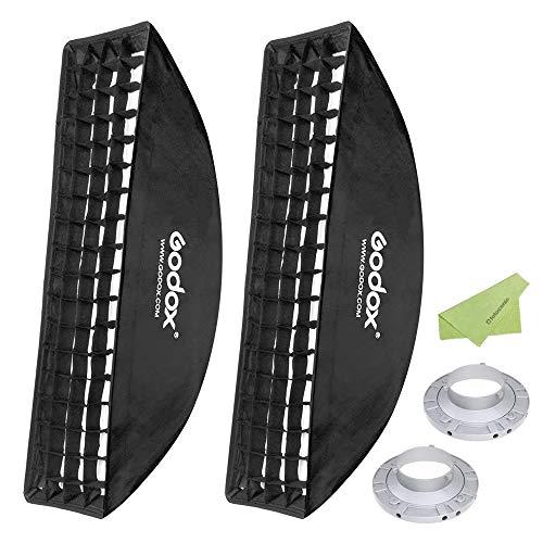 "Godox 9""x 35"" 22x90cm Honeycomb Grid Softbox with Bowens Mount Speedring for Photo Strobe Studio Flash Light [2-Pack] from Godox"