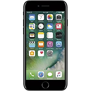 Apple iPhone 7, 128GB, Fully Unlocked - Jet Black (Renewed)