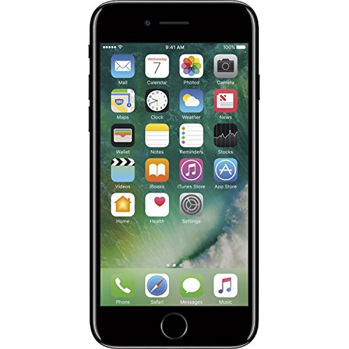 Apple iPhone 7, 128GB, Fully Unlocked - Jet Black (Renewed)