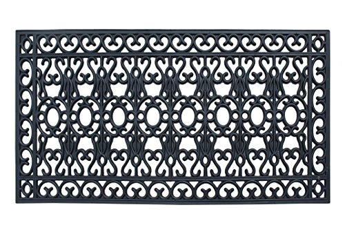 A1 Home Collections A1HCCL72 Scrollwork, 100% Rubber Beautifully Hand Finished Large Double Doormat, 24
