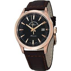 Zeno Men's 6662-2824PGR-F1 Gentlemen Analog Display Automatic Self Wind Brown Watch