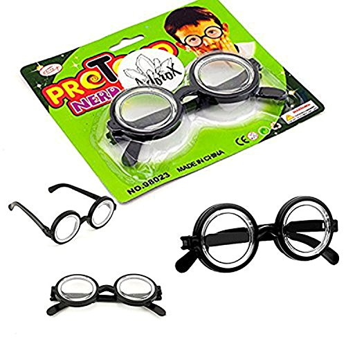 Adorox Halloween Wizard Nerd Eyeglasses Costume Accessory Party Favor Cosplay