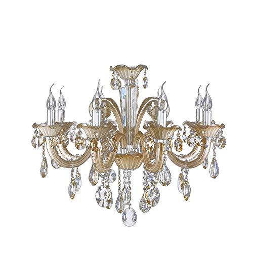 Lustre Cristal/ Vidro, 74 X 62 Cm, 8xe14 Bella Iluminação Gallery No Voltagev Champagne 74 X 62 Cm