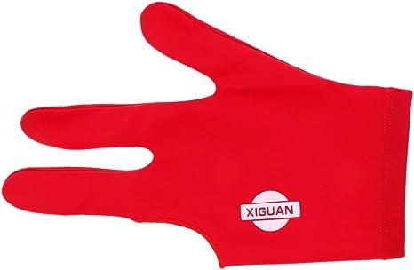 Toygogo Spandex Guante De Billar De Mano Izquierda 3 Dedos para Palos De Billar - Azul/Rojo/Negro - Rojo: Amazon.es: Deportes y aire libre