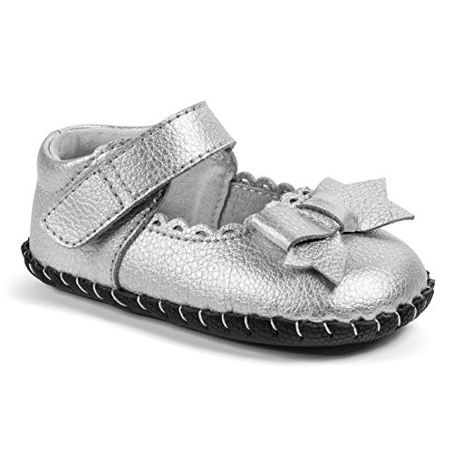 Pediped Infant Shoes - pediped Originals Betty Mary Jane (Infant),Silver,Medium (12-18 Months)