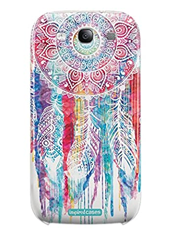 Inspired Cases 3D Textured Dreamcatcher Watercolor Spiritual Native American Case for Galaxy S3 (Galaxy S3 Case Native)