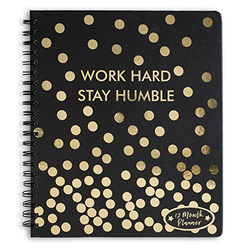 12 Month 2018 Agendas (Work Hard, Stay Humble)