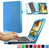 Infiland Acer Aspire Switch 10 HD / Switch 10 FHD (SW5-012/SW5-011/SW5-015) Funda Case-Folio PU Cuero Cascara Delgada con Soporte para Acer Aspire Switch 10 (10,1 pulgadas) Notebook (con Auto Reposo / Activación Función)(Azul Claro)