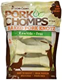 Premium Pork Chomps Baked Knotz Pork, 7″, 8Ct