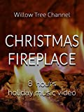 Christmas fireplace, 8 hours holiday music video