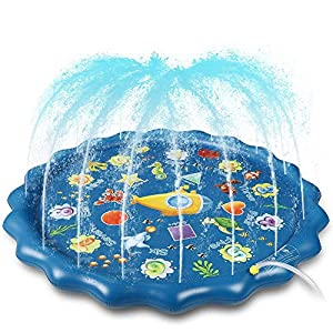 Winique Tappetino Gioco d'Acqua per Bambini 170 cm / 67 '' Splash Play Mat Fontana per Parco Giochi Gonfiabile Sprinkler… 7 spesavip
