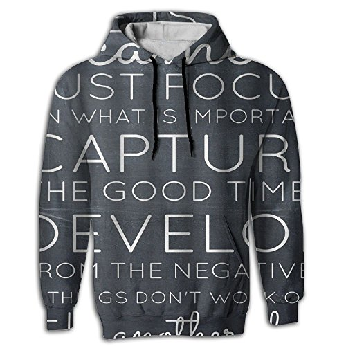 Dasfde Inspirational Quotes   Life Is Like A Camera Print Mens Guys First Quality Cool Hoodies Designer
