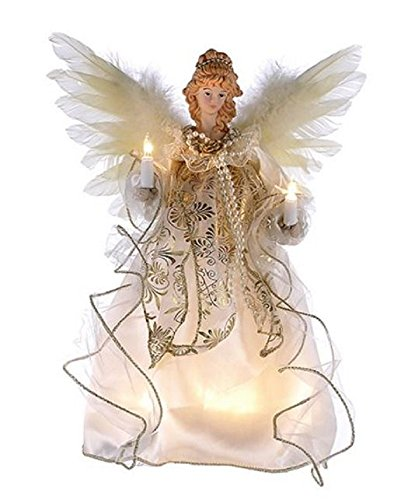 Kurt Adler Illuminated Angel Treetop]()