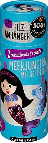 Coppenrath Verlag Gmbh & Co. Kg Feltro Ciondolo: Piccola Sirena Con Cavalluccio Marino: 2Entzueckende Amici