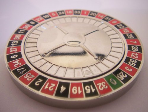 Roulette Poker Weight Card Guard Commerative