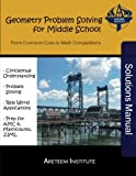 Geometry Problem Solving for Middle School Solutions Manual: From Common Core to Math Competitions