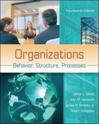Organizations: Behavior, Structure, Processes (Human Resource Management Process In The Organization)