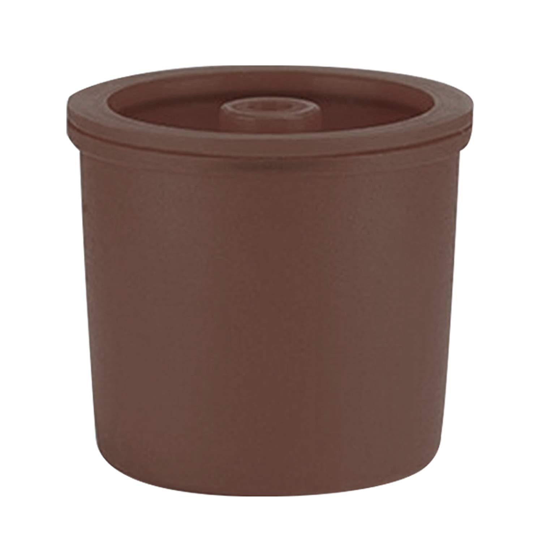 Gosear 詰め替え可能 再利用可能 カプセルカップフィルター Illy エスプレッソコーヒーマシン対応 ブラウン   B07P1FV49B