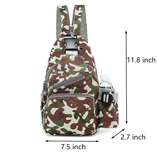 Men Daypack For Sling Casual Camo Women Bag Green Backpack Outdoor Znvmi Army Travel Cross Chest Rucksack Waterproof Shoulder Body Tactical Sport w6ZBfaq