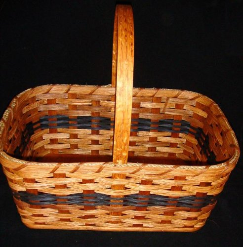 Home and Garden Collectible Rustic Country Market Basket, 9'' X 13'' X 7''. A Basket Originally Designed for Carrying to the Market. Today We Generally Just Display It in Our Home