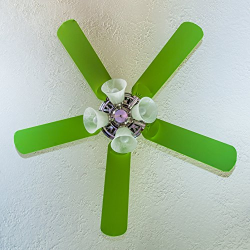 (Fancy Blade Ceiling Fan Accessories Blade Cover Decoration, Solid (Lime)