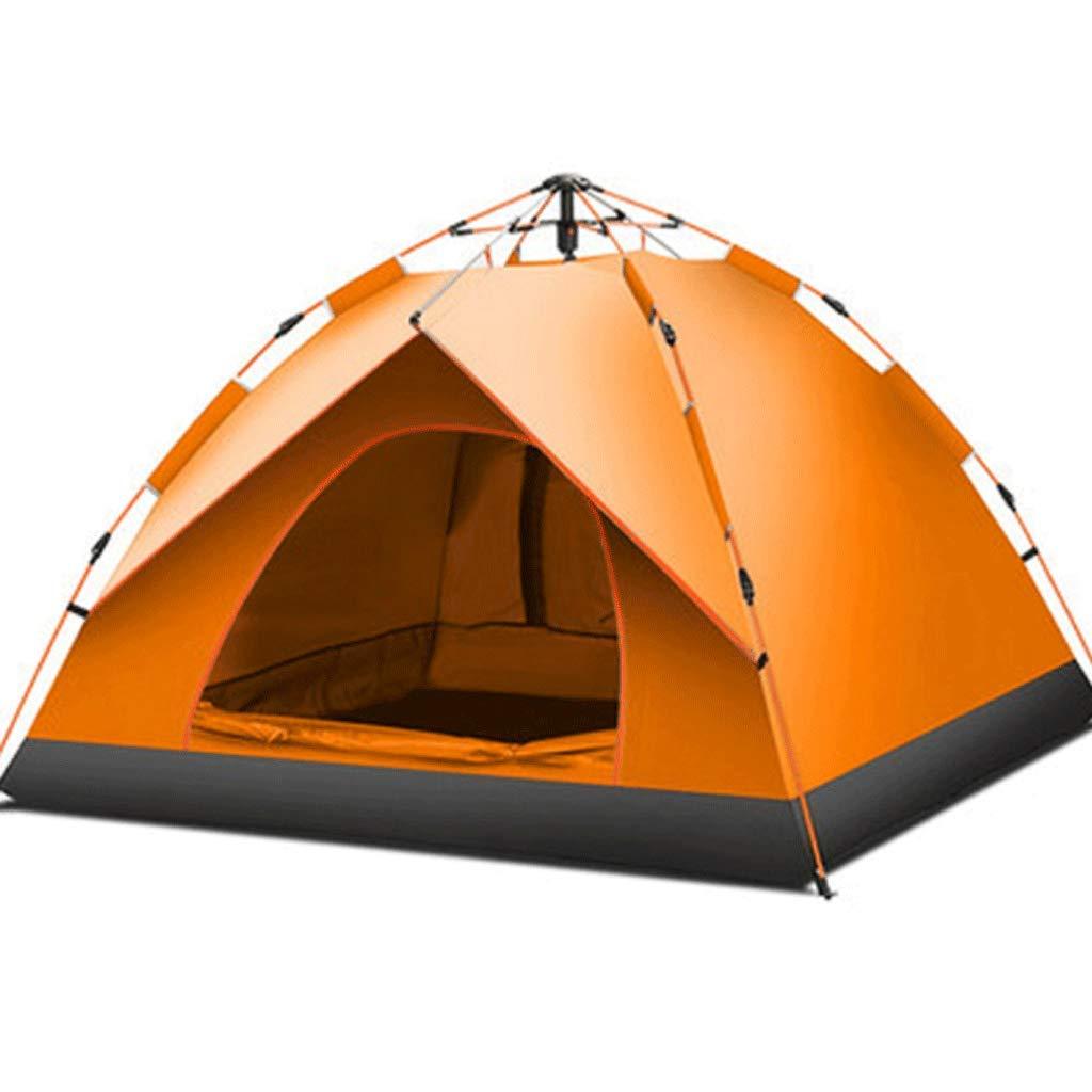 WSGZH Zelt Outdoor 3-4 Personen Vollautomatische Zeltfeder Hydraulische Geschwindigkeit Offen Regendicht Sonnencreme Single Layer Zelt