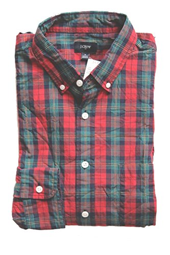 j-crew-factory-mens-regular-fit-patterned-gingham-plaid-washed-cotton-casual-shirt-medium-red-multi