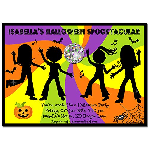(Halloween Party Invitation - Halloween Invitation - Halloween Dance)