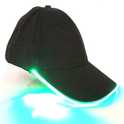 INLAR Light up Hat Baseball Cap LED Glow in The Dark Hat LED Light Brim  Party 88340e915a0