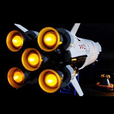 BANDRA Luz LED Kit - Light Set para Lego 21309 - Ideas NASA: Apolo Saturno V - Luz de la Cola (NO Incluido El Modelo Lego): Juguetes y juegos