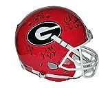Herschel Walker Aaron Murray Malcolm Mitchell Georgia Bulldogs Autograph Full Size Helmet - 7 signatures total!