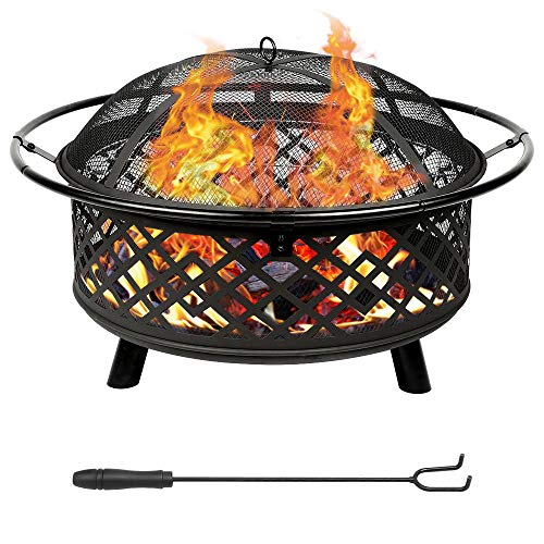 Teancll Portable Outdoor Fireplace Backyard Resistant - 32
