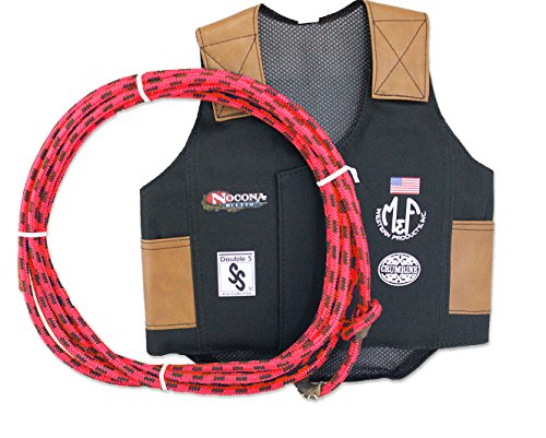 Rider Girl Costume (M & F Western Boys' Bull Rider Play Vest 2-10 Years (Medium, Red))