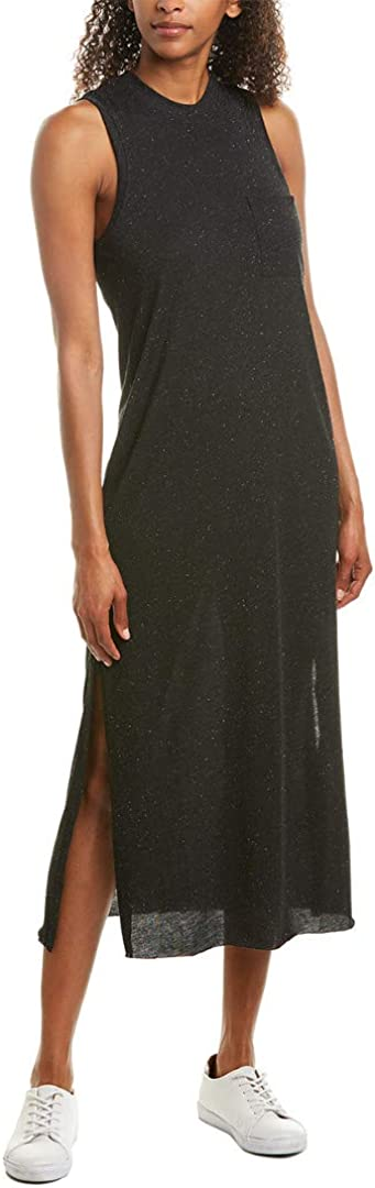ATM Womens Anthony Thomas Melillo Pocket Maxi Dress, S, Grey