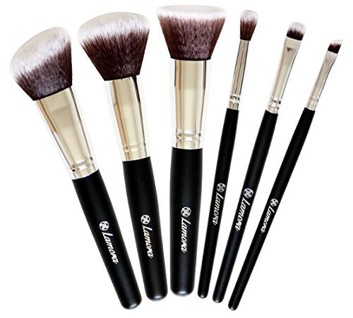 Travel Makeup Brush Set - Professional Kit with 6 Essential