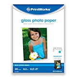 Printworks Photo Paper, Gloss, 8.5-Inch X 11-Inch, 30 Sheets in Pack, 00470