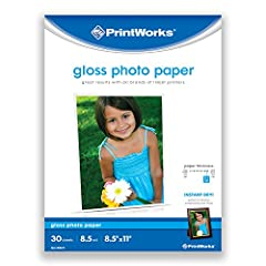 Printworks offers a wide variety of outstanding photo paper for all of your photo printing needs. Printworks Gloss Photo Paper is a heavyweight, 8.5 mil paper, with a smooth, gloss finish that is perfect for artistic-looking prints in a frame...
