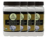 Naturevibe Botanicals Organic Arrowroot Powder, 4 lbs | Arrowroot Flour or Arrowroot Starch | Gluten Free and Non-Gmo | Manihot esculenta (4 Pack of 1 lb each) | Cooking and Baking | Thickening Agent.