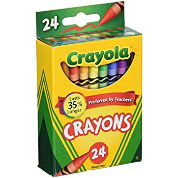Amazon.com : Crayola Box of Crayons Non-Toxic Color Coloring ...