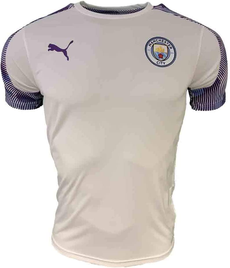 White Manchester City Training Jersey Kids