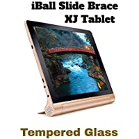 "M.G.R.J HD+ 9H Hardness Toughened Tempered Glass Screen Protector for iBall Slide Brace -XJ Tablet (10.1"" inch) Compatible with iBall Slide Brace X1"