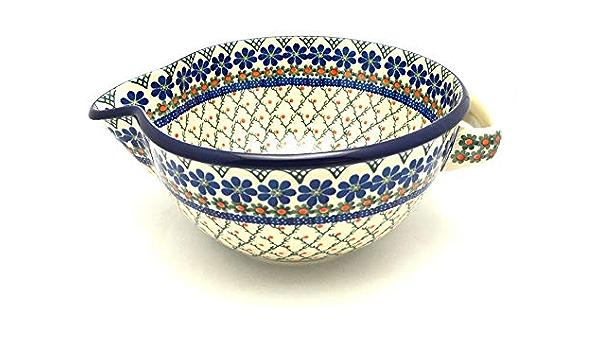 Polish Pottery Batter Bowl 2 Quart Primrose Kitchen Dining